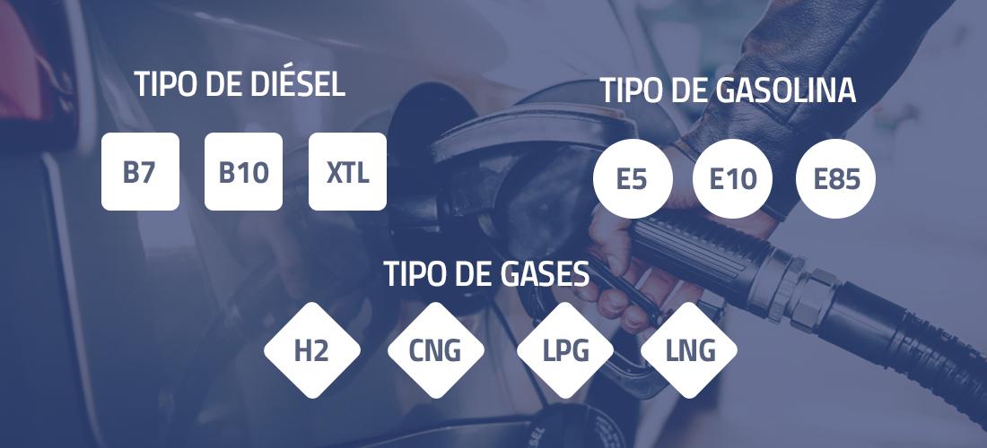 etiqueta por tipo de combustible