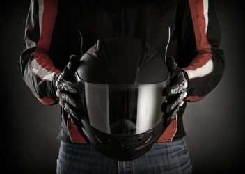 Casco homologado para moto
